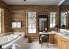 Junior Master Bathroom - Mountain View - Wilson, WY - Luxury Villa Rental