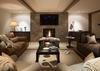 Media Room on Lower Level - Last Chance Ranch - Jackson Hole, Wyoming - Luxury Villa Rental