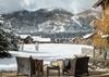 Master Bedroom Patio - Four Pines 102 - Teton Village Luxury Villa Rental