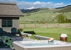 Back Deck with Hot Tub - Elk Refuge House -  Jackson Hole, WY - Luxury Vacation Rental