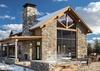 Back Exterior - Four Pines 102 - Teton Village Luxury Villa Rental
