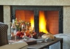 Great Room Fireplace - Fish Creek Lodge 02 - Teton Village Luxury Cabin Rental