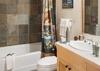 Guest Bedroom 2 Bathroom - Moose Creek 35 - Slopeside Cabin in Teton Village - Luxury Villa Rental