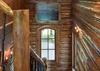 Stairway to Loft with Bunks - Grizzly Wulff Lodge - Jackson Hole Private Luxury Villa Rental