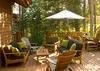 Back Patio - Catamount - Teton Village Luxury Vacation Cabin
