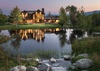 Back Exterior - Chateau on the West Bank - Jackson Hole, WY -  Luxury Villa Rental