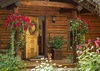 Front Door - Rocking V - Wilson WY Private Luxury Villa Rental