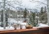 Front Deck -  Moose Creek 04 - Slopeside Cabin in Teton Village - Luxury Villa Rental