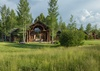 Rear Exterior - Grizzly Wulff Lodge - Jackson Hole Private Luxury Villa Rental