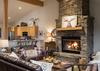 Great Room - Moose Creek 35 - Slopeside Cabin in Teton Village - Luxury Villa Rental