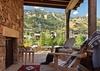 Side Patio - Fish Creek Lodge 02 - Teton Village Luxury Cabin Rental