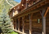 Front Entry - Fish Creek Lodge 02 - Teton Village Luxury Cabin Rental