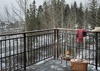 Back Deck -  Moose Creek 04 - Slopeside Cabin in Teton Village - Luxury Villa Rental