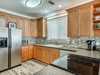 The Kitchen Supplied with Stainless Steel Appliances