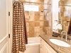 Wash all your worries down the drain in the 1st floor guest bathroom