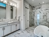 2nd Floor Master En Suite Equipped with Glass Enclosed Shower & Soaking Tub