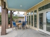 Gulf Front Patio - Furnished with Dining Area for Six