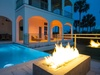Gas Fire Feature by Pool