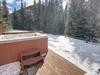 Private hot tub with a stunning view