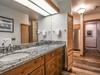 Bathroom with dual sinks