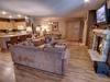 Living room with hardwood flooring