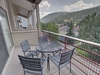 Enjoy the mountain view from the balcony