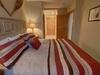 Bedroom with beautiful comforter