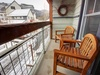 Balcony with outdoor furniture perfect for relaxing after a long day in the sun