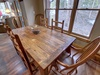 Dining room with gorgeous view and wooden table