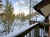 Porch with spectacular view of Keystone