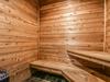 Sauna with beautiful hardwood walls