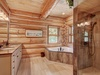 Bathroom with gorgeous wooden walls