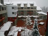 Winter view of Silver Mill courtyard
