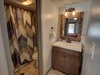 Bathroom with splashes of natural colors and patterns