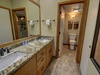 Bathroom with beautiful granite countertops