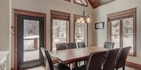 Dining area with forest view