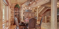 Dining room with gorgeous wooden table