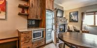 Kitchen with hidden fridge