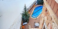 Relax in the pool after a long day of skiing or biking