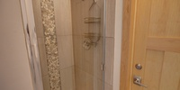 Bathroom with shower to cool down and relax