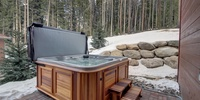Private hot tub included with propertie