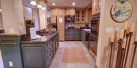 Kitchen with space to cook multiple meals