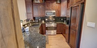Kitchen with room for all needed appliances