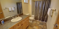 Bathroom with granite countertops