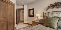 Bedroom with a closet perfect for those long stays