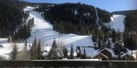 Amazing ski slope view from balcony
