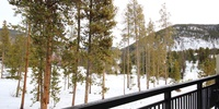 Porch with phenomenal view os Keystone nature