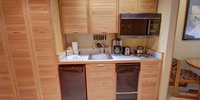 Kitchen with coffee maker for those early mornings