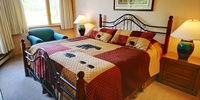 Bedrooms with colorful and comfortable beds