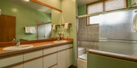 Bathroom with gorgeous splashes of color